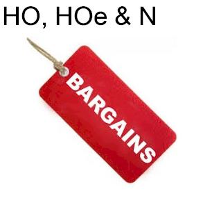 Bargains HO, HOe & N